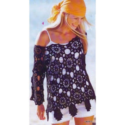 Pattern only - a crochet summer  blouse/ beach wear - No3 - AsDidy fashion