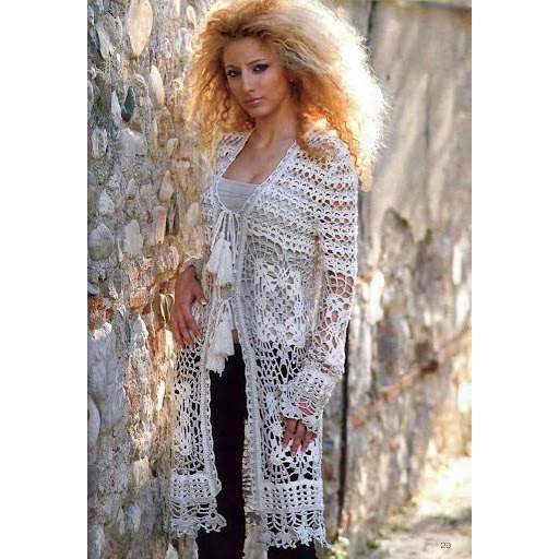 Elegant long crochet women cardigan - AsDidy fashion