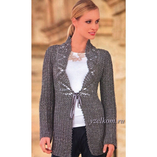 MADE TO ORDER - An elegant crochet  cardigan - AsDidy fashion