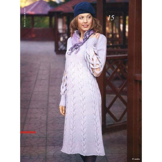 Made to order - An elegant hand knitted spring/winter dress - AsDidy fashion
