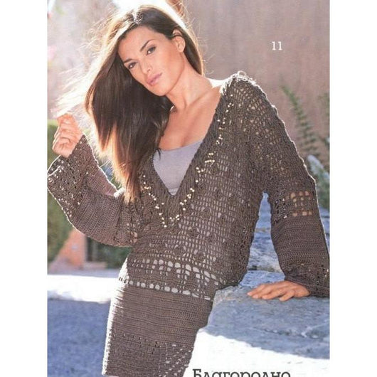 MADE TO ORDER - a crochet spring/summer/fall tunic - AsDidy fashion