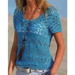 PDF Pattern only - a crochet spring/summer blouse - AsDidy fashion