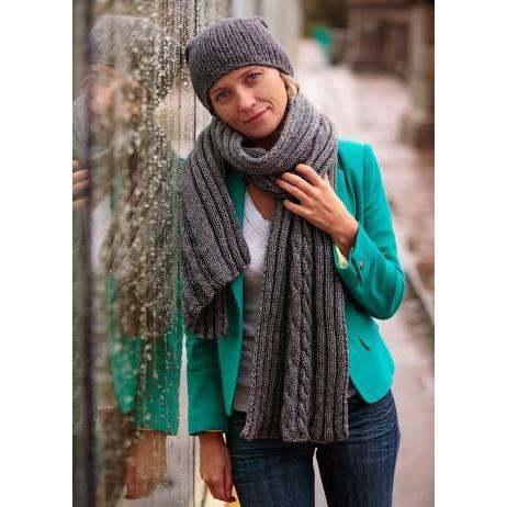 Elegant knitted women winter shawl and hat - AsDidy fashion