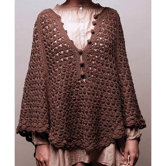 Crochet poncho pattern - PDF Pattern only - Crochet clothes