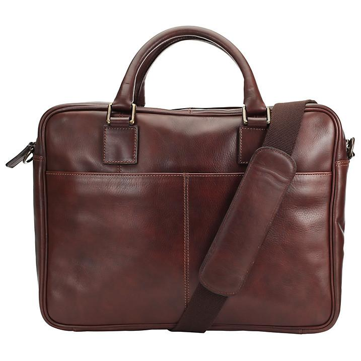 Gladstone 15.4 Laptop Leather Briefcase, Antique - URBAN LEGEND LEATHER