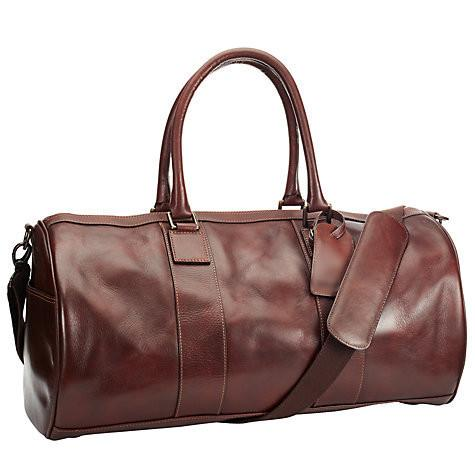 Donal Carey Jr Leather Barrel Bag, Antique Tan - URBAN LEGEND LEATHER