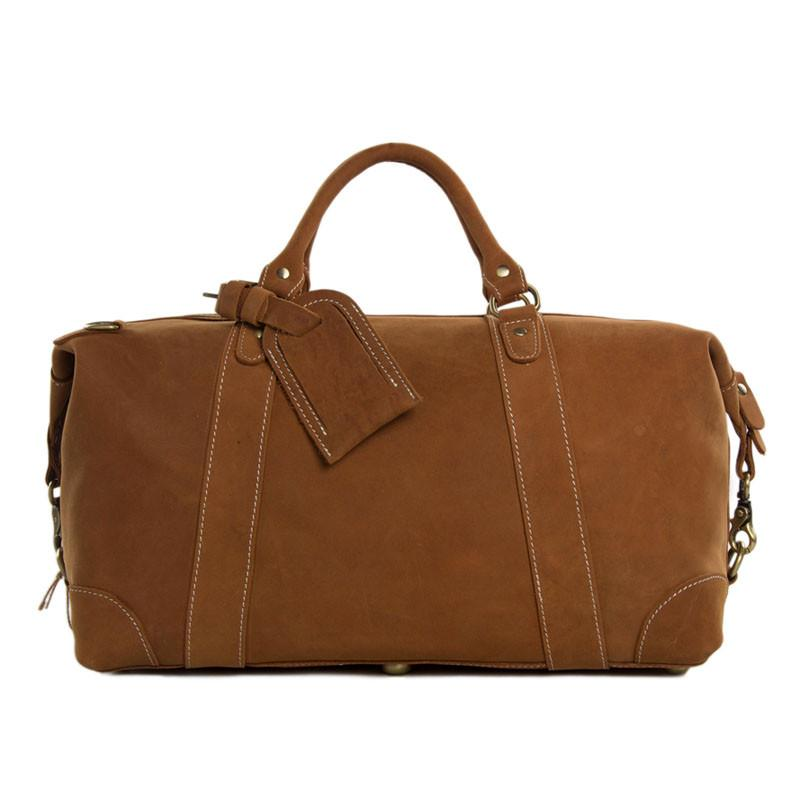Mens Leather Weekender Travel Bag - URBAN LEGEND LEATHER