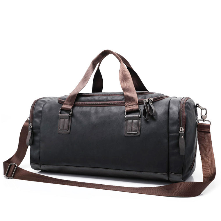 Leather Travel Bag With Shoulder Strap - URBAN LEGEND LEATHER