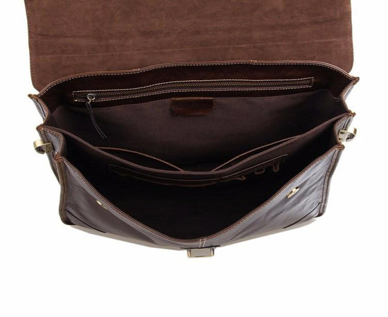 Men's Briefcase Style Carry Case Leather