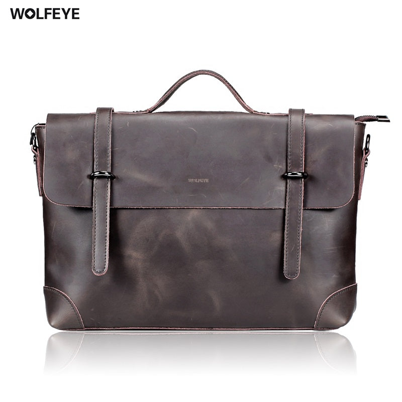 Mens Vintage Leather Messenger Bag - URBAN LEGEND LEATHER