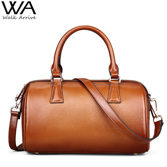 Womens Vintage Leather Boston Bag - URBAN LEGEND LEATHER