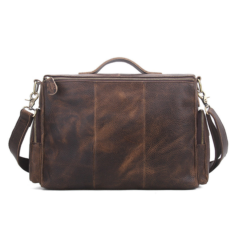 Mens Vintage Messenger Bag - URBAN LEGEND LEATHER