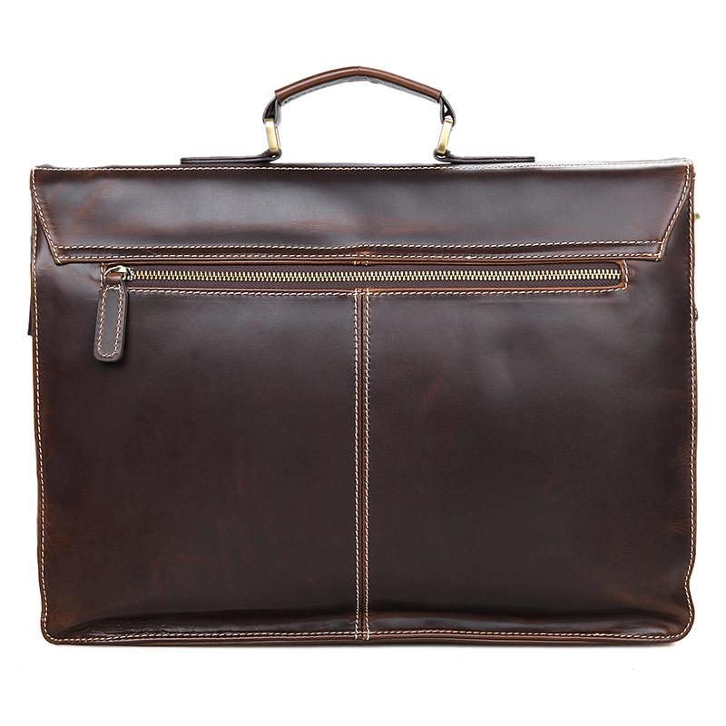 Mens Leather Messenger Briefcase Removable Strap - URBAN LEGEND LEATHER