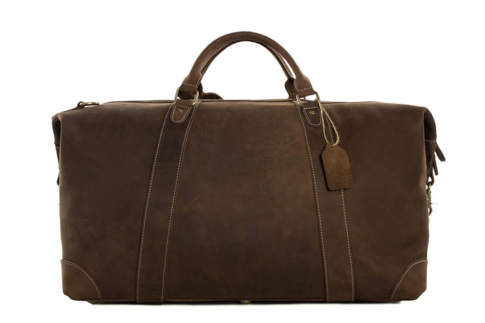 Mens Weekender Italian Leather Duffle Bag DZ07 - URBAN LEGEND LEATHER