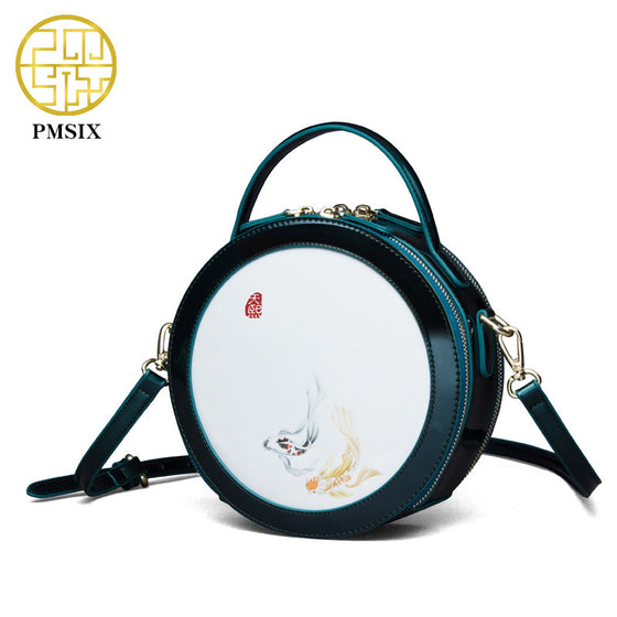 Pmsix 2017 New Circular Womens Leather Handbag - URBAN LEGEND LEATHER