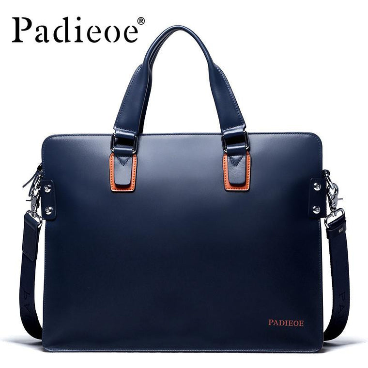 Padieoe Mens Leather Brief With Shoulder Strap