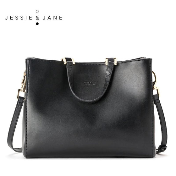 JESSIE&JANE Leather Shoulder Bag With Strap - URBAN LEGEND LEATHER