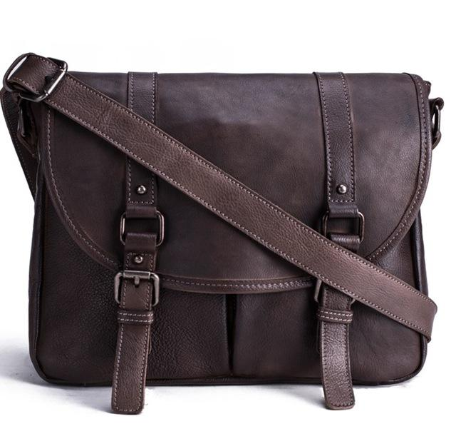Handmade Vegetable Tanned Leather Men's Messenger Bag - URBAN LEGEND LEATHER