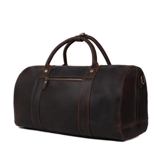 Leather Travel Bag For Men Weekend/Overnight