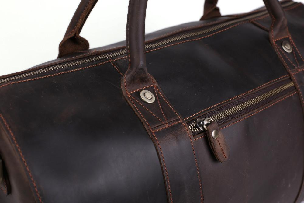 Leather Travel Bag For Men Weekend/Overnight - URBAN LEGEND LEATHER