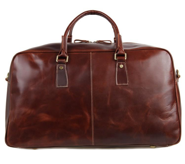 Glossy Leather Large Capacity Overnight/Travel/Weekend Luggae Bag - URBAN LEGEND LEATHER