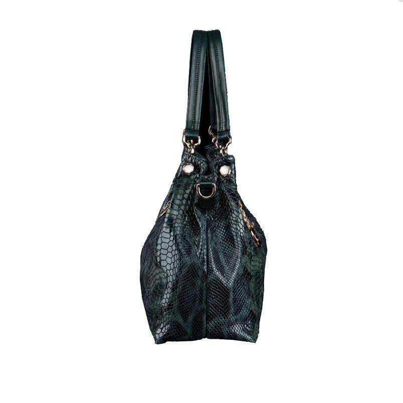 FOXER  Leather Handbag Snakeskin Design - URBAN LEGEND LEATHER