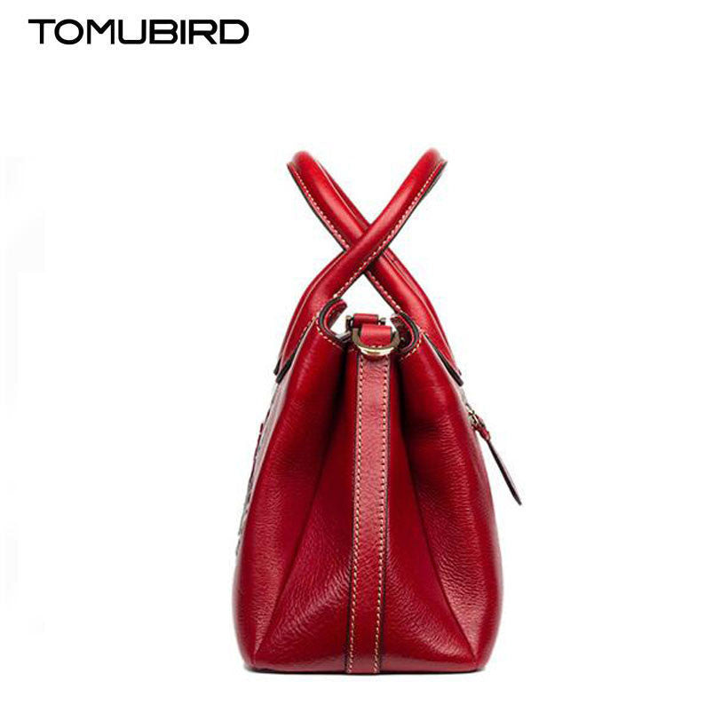 TOMUBIRD  Floral Collection Soft Leather Womens Tote Bag - URBAN LEGEND LEATHER