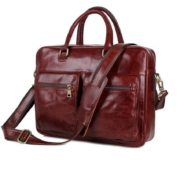 Mens Leather Brief Bag