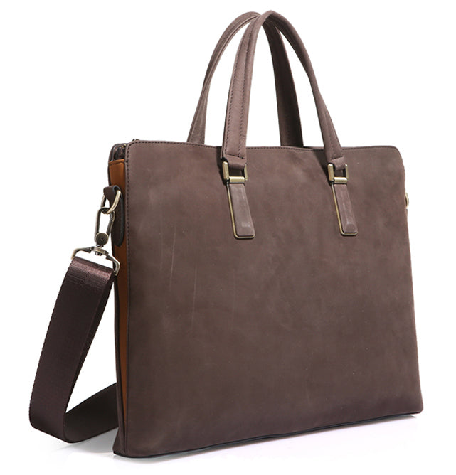 Mens Nubuck Leather Tote Carry Bag - URBAN LEGEND LEATHER