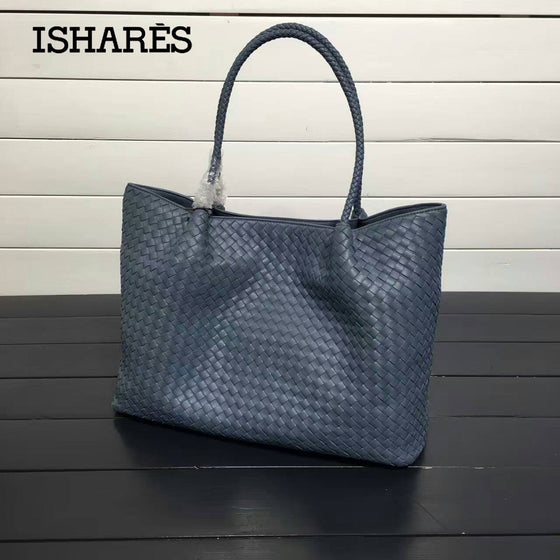 Womens Shoulder Woven Leather Tote For Women - URBAN LEGEND LEATHER