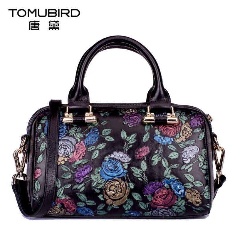 Womens Flower Design Tote Bag - URBAN LEGEND LEATHER