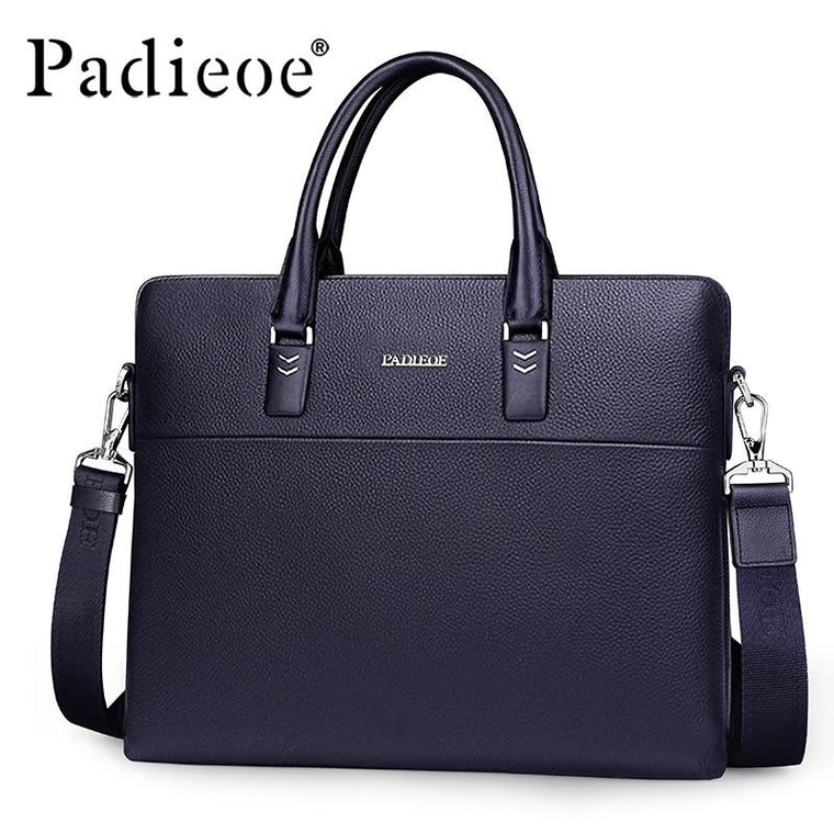 Padieoe Luxury Mens Briefcase With Romovable Shoulder Strap