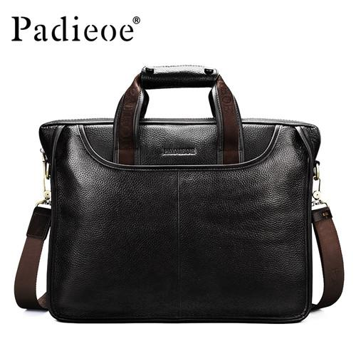 Mens Luxury Leather Casual Briefcase & Laptop Bag