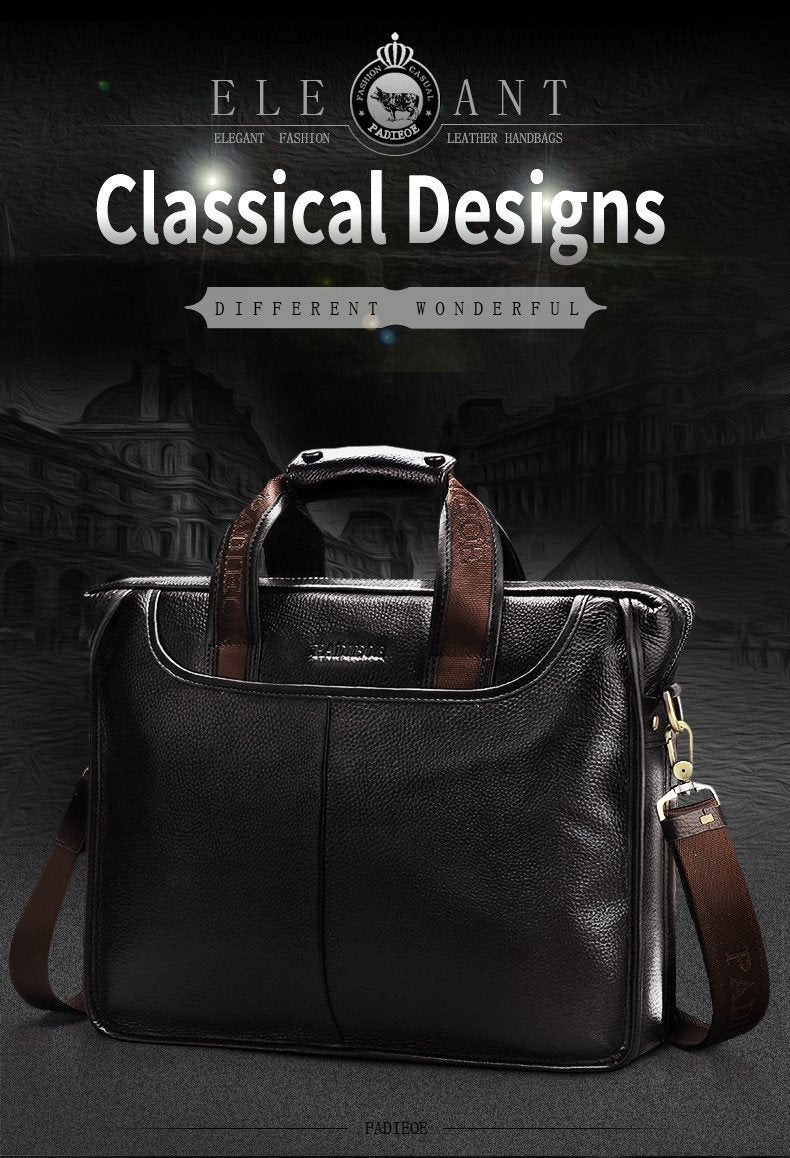 Mens Luxury Leather Casual Briefcase & Laptop Bag - URBAN LEGEND LEATHER