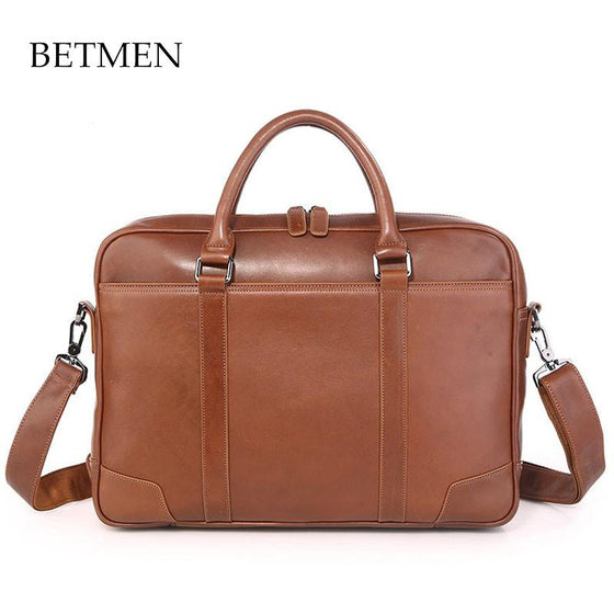 Mens Leather Brief with Removable Shoulder Strap