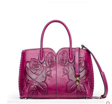 Original Leather Hand-Embossed Handbag - URBAN LEGEND LEATHER