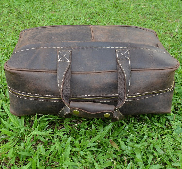 "Vintage 20"" Leather Weekend Bag Lots Of Storage - URBAN LEGEND LEATHER"