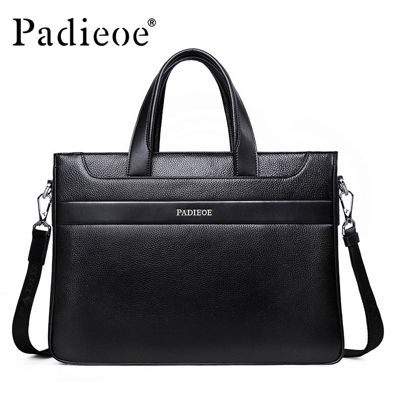 Mens Padieoe Business Shoulder Bag With Shoulder Strap - URBAN LEGEND LEATHER