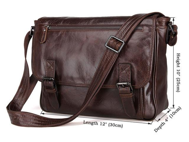 Mens Leather Messenger Bag with Shoulder Strap - URBAN LEGEND LEATHER