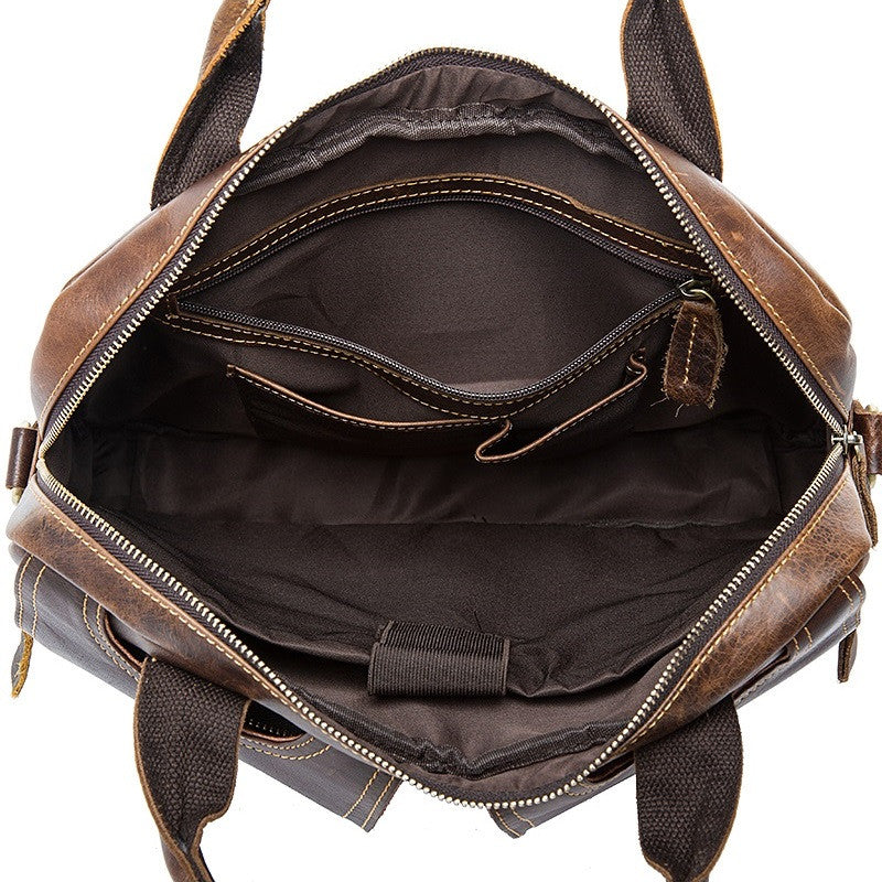 Mens Vintage Cowhide Messenger Bag - URBAN LEGEND LEATHER