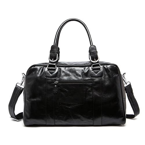 Glossy Leather Travel/Weekend/Overnight/Duffel Bag - URBAN LEGEND LEATHER