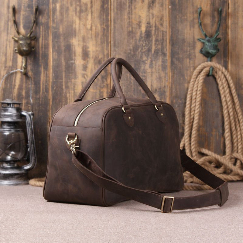 Leather Travel/Duffle/Weekend/Overnight Bag - URBAN LEGEND LEATHER