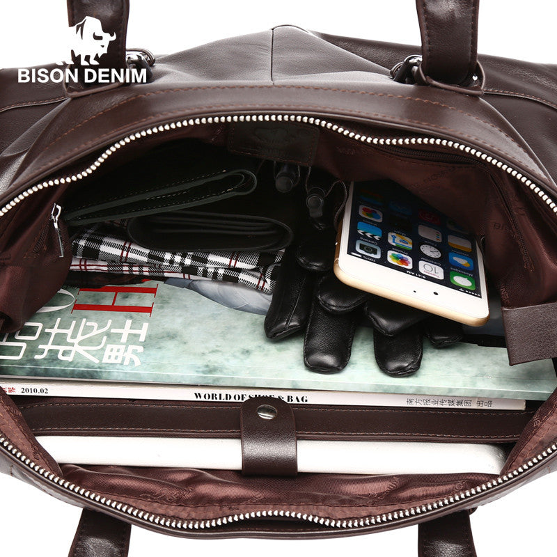 Mens Brief Leather Shoulder Bag - URBAN LEGEND LEATHER