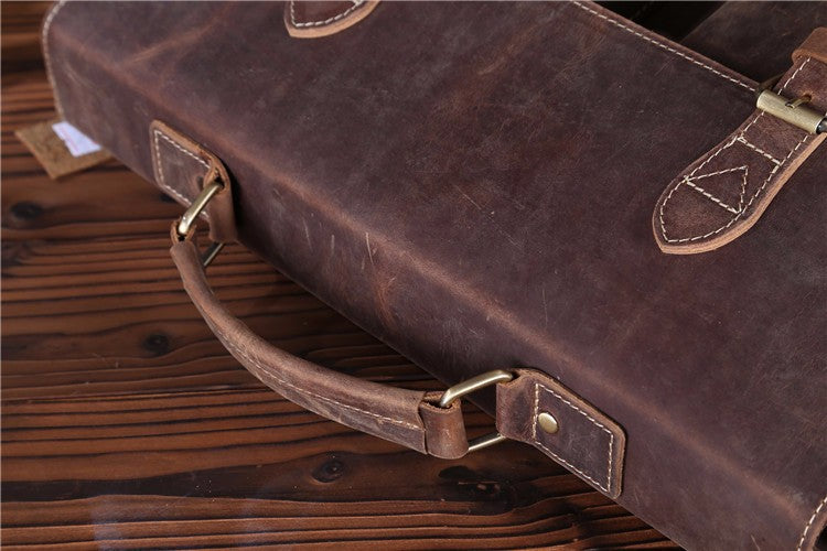 Mens Top Grade Handmade Vintage Style Messenger 15 inch Laptop Bag - URBAN LEGEND LEATHER