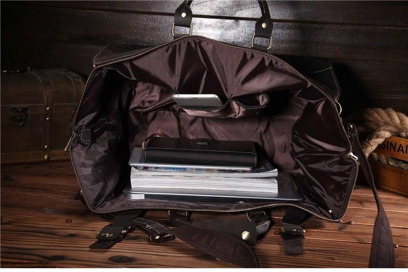 Vintage Leather Travel/Overnight/Leather/Duffel Bag - URBAN LEGEND LEATHER