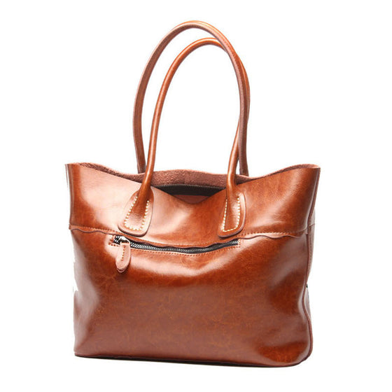 Womens Vintage Leather Tote Bag - URBAN LEGEND LEATHER
