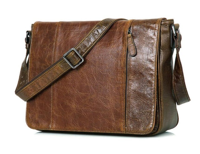 Mens Vintage Leather Shoulder  Messenger Bags Laptop 13 inch - URBAN LEGEND LEATHER