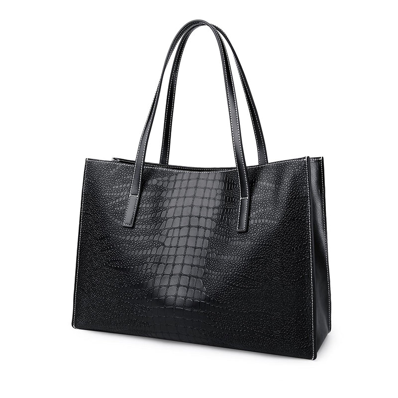 Womens Large Capacity Leather Tote Bag - URBAN LEGEND LEATHER