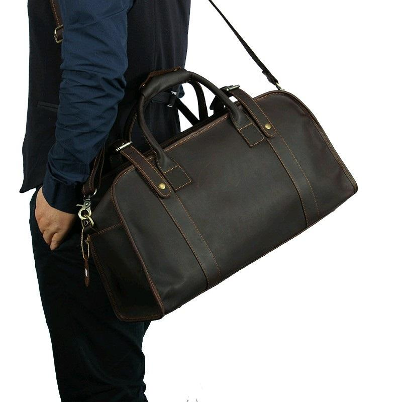 Vintage Leather Travel Muti-Use Messenger Weekend Overnight Bag - URBAN LEGEND LEATHER