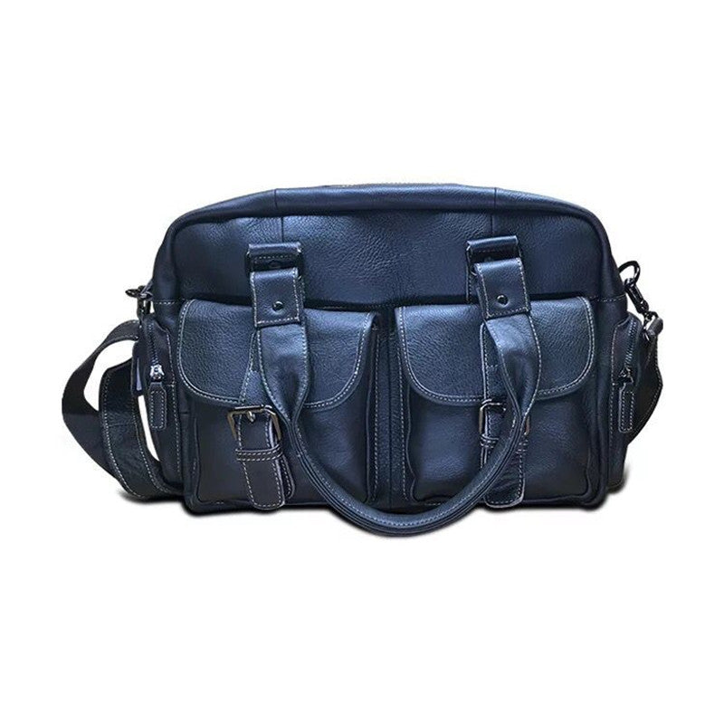 Leather Casual Messenger Bag With Strap - URBAN LEGEND LEATHER